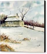 Winter Washday Canvas Print