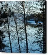 Winter Water Blues Canvas Print