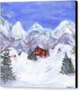 Winter Wonderland - Www.jennifer-d-art.com Canvas Print
