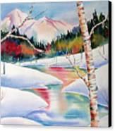 Winter's Light Canvas Print by Deborah Ronglien