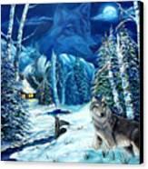 Winters Night 2 Canvas Print by Darlene Green