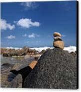 Wishing Rocks Aruba Canvas Print by Amy Cicconi