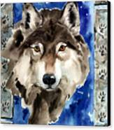 Wolf Canvas Print by Nadi Spencer