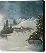 Wolfspirit Canvas Print by Bernadette Wulf
