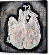 Woman 13  From When De Body Talks Collection Canvas Print