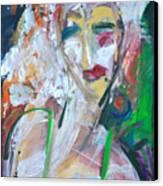 Woman At The Jazz Club Canvas Print