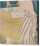Woman Bathing Canvas Print