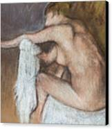 Woman Drying Her Arm Canvas Print