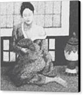 Woman In Kimono Canvas Print by Don Perino