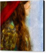 Woman In Medieval Gown Canvas Print by Jill Battaglia