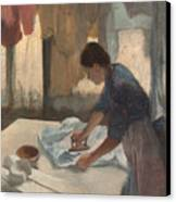 Woman Ironing Canvas Print