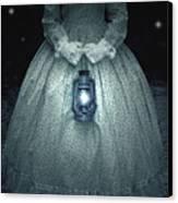 Woman With Lantern Canvas Print