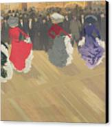 Women Dancing The Can Can Canvas Print by Abel Truchet