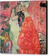 Women Friends Canvas Print by Gustav Klimt