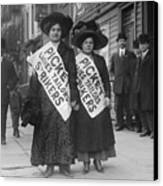 Women Strike Pickets From Ladies Canvas Print by Everett