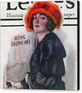Women Voting, 1920 Canvas Print