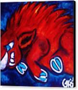 Woo Pig Canvas Print