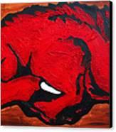 Woo Pig Sooie Canvas Print by Laura  Grisham