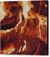Wood Fire Mosaic Canvas Print