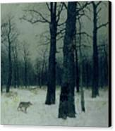 Wood In Winter Canvas Print by Isaak Ilyic Levitan