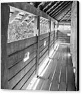 Wooden Balcony Canvas Print by Gabriela Insuratelu