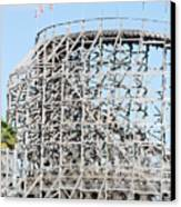 Wooden Coaster Canvas Print