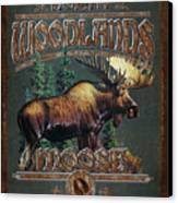 Woodlands Moose Canvas Print