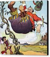 Woodrow Wilson Cartoon Canvas Print by Granger