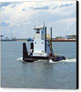 Workboat At Port Canaveral In Florida Canvas Print