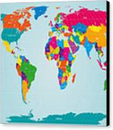 World Map  Canvas Print by Michael Tompsett