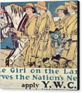 World War I Ywca Poster  Canvas Print by Edward Penfield