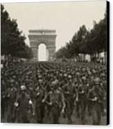 World War II. The Liberation Of Paris Canvas Print