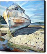 Wreck Of The Old Pt. Reyes Canvas Print