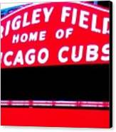 Wrigley Field Sign Canvas Print by Marsha Heiken