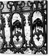 Wrought Iron Gate -west Epping Nh Usa Canvas Print