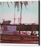 Yankee Town  Fishing Boat Canvas Print