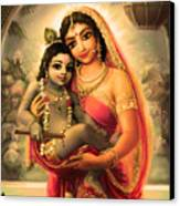 Yashoda And  Krishna 4 Canvas Print