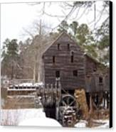 Yates Mill In Winter Canvas Print