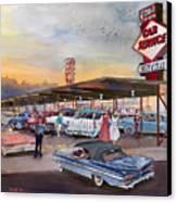 Yaw's Top Notch Drive In Canvas Print by Mike Hill
