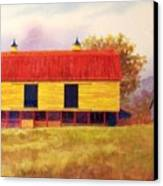 Yellow Barn Canvas Print