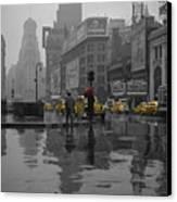 Yellow Cabs New York Canvas Print