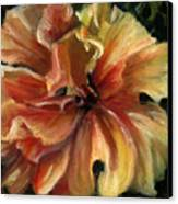 Yellow Hibiscus Canvas Print by Patricia Halstead