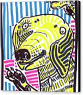 Yellow Lab Canvas Print by Robert Wolverton Jr