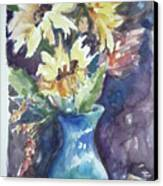 Yellow Mums Canvas Print by Dorothy Herron