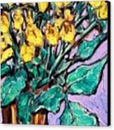 Yellow Roses Canvas Print by Sheila Tajima