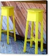 Yellow Stools Canvas Print