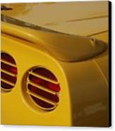 Yellow Vette Lights Canvas Print