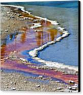 Yellowstone Abstract I Canvas Print by Teresa Zieba