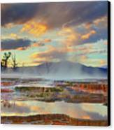 Yellowstone National Park-mammoth Hot Springs Canvas Print by Kevin McNeal