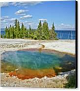 Yellowstone Prismatic Pool Canvas Print
